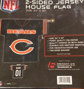 Chicago Bears NFL Jersey Design 2-sided 34 X 30 Banner