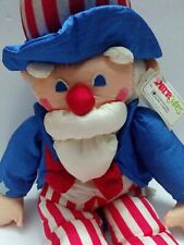 "1993 Uncle Sam International Silver Plush Stuffed Patriotic 31"" July 4 paracute"
