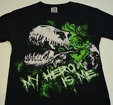 Dinosaur t-shirt preteens medium My Hero Is Me black