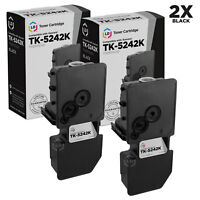 LD Compatible Kyocera TK-5242K Black Toner 2-Pack for ECOSYS M5526cdw, P5026cdw