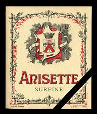 Vintage French Alcohol label: Old Anisette Liquor Lithograph European Liqueur