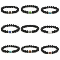 Fashion Healing Distance Bracelets Lava Women Natural Bracelets Beaded Stone Men