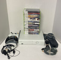 WOW! Xbox 360 120GB Console Bundle White HDMI 20 GMs 2 Controllers All Cords