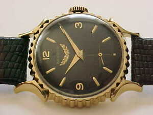 Excellent Vintage Benrus Bottlecap Watch With Black Dial And Outstanding Looker