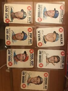 1968 Topps Game Baseball Card Lot - Santo, Torre, McCarver, and three others
