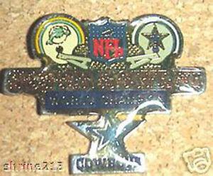 Super Bowl 6 VI  Champions Medium Pin Dallas Cowboys vs Miami Dolphins PDM