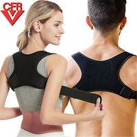 Posture Corrector Women Men Shoulder Brace Back Support Strap Belt Adjustable FQ
