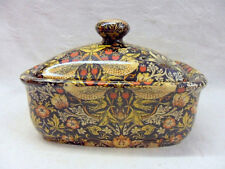 William Morris strawberry thief design butterdish by Heron Cross Pottery