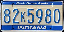"INDIANA "" BACK HOME AGAIN TORCH "" Vintage Classic 1990 IN Graphic License Plate"