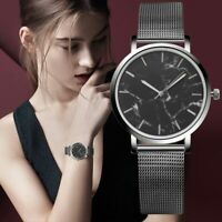Fashion Women Casual Watches Stainless Steel Date Marble Waterproof Wrist Watch