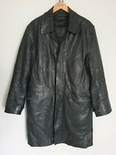 Ciro Citterio Mens Vinage Black Genuine Leather Coat/Jacket  Special lining M/ L