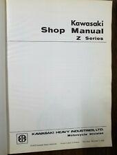 Used Kawasaki Shop Manual Z Series 1973 KX900 Z1 First Edition 99997-700 OMB5
