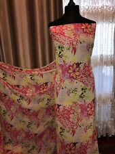 NEW DESIGNER FLORAL PRINT CHIFFON FABRIC DRESS MATERIAL FAST DELIVERY UK SELLER