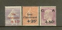 """FRANCE STAMP TIMBRE 249/51 """" CAISSE AMORTISSEMENT 2eme SERIE 1928"""" NEUF xx TB"""