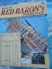 Costruire la RED BARON's FIGHTER AEREO FOKKER DR1 HACHETTE NUMERO 16 NUOVO SIGILLATO