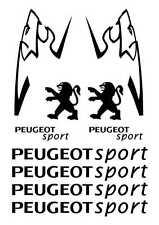 Kit de 10 Sticker Autocollant  Peugeot Sport 206 207 306 307 Noir p01