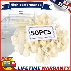 50PCS Plastic Door Trim Panel Retainer Car Fasteners Clips For Chevrolet GMC S10