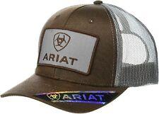 Ariat Mens Logo Patch Adjustable Snapback Cap Hat (Oilskin Brown/Grey)