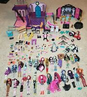Huge Lot Monster High Dolls with Clothes Shoes Furniture Accessories, DJ Scooter