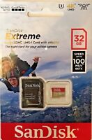 SanDisk 32GB Extreme Micro SDHC Memory Card UHS-1 U3 4K 100MB/s with Adapter