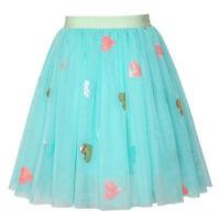 Sunny Fashion Filles Jupe Bleu Cœur Paillettes Pétillant Tutu Danse