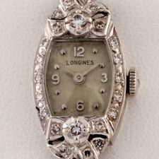 Longines 14k White Gold and Diamond Women's Dress Watch Gorgeous!