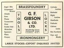 1953 Gf Gibson Clerkenwell Green Ironmonger Ad