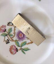 Lebolt & Co Hammered Sterling Silver Napkin Ring Mono L