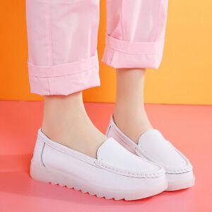 Womens Nurse Hospital Slip On Loafers Shoes Comfort Slip Resistant Breathable