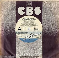 """COLLEEN HEWETT - HEARTS (OUR HEARTS) - RARE 7"""" 45 PROMO VINYL RECORD - 1982"""