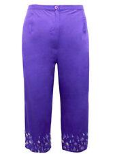 Fabulous Evans Purple Sequin Hem Crop Trousers Ladies NEW  HOLIDAYS !!