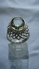 Jewellery 925 Solid Sterling Silver Green Amethyst Ring #2