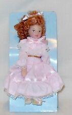 "Porcelain Girl 4 1/4"" Tall Dollhouse Miniature People"