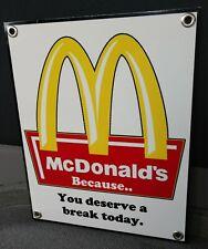 McDonald's restaurant fast food Sign