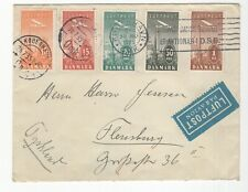 Denmark Stamps on Cover. Beautiful Cancels! Airmail!