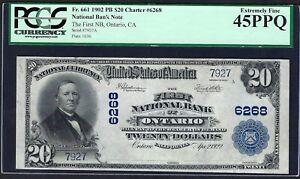 CA 1902 $20   ♚♚ ONTARIO, CALIFORNIA ♚♚ PCGS EX FINE 45 PPQ