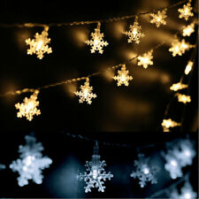 40 LED 6 Meters Christmas Party Wedding Outdoor Decor Snowflake Light String.