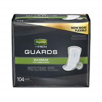Guards For Men Maximum Absorbency Two Packs Of 52 104 Incontinence Shields &