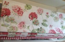 Blackout Roman Blind Made in Laura Ashley Pale Cranberry Geranium Fabric
