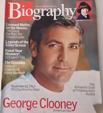 Biography Magazine George Clooney Tchaikovsky's Russia November 2003 073017nonrh