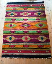 1960s Hutsul carpet Western Ukraine Homespun Wool Carpet Rug Ethnic carpet