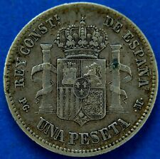More details for spain: alfonso xiii 1891 pg-m 1 peseta                     ch9-535