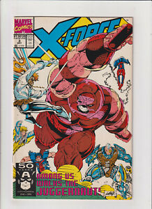 X-Force #3 VF/NM 9.0 Marvel 1991 Rob Liefeld, Cable , Spider-man vs Juggernaut