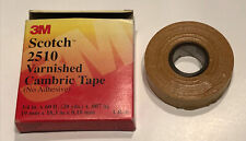 Scotch Varnished Cambric Tape 2510, 3/4 in x 60 ft (New Open Box)
