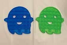 [2-PACK] Ghost Glow in Dark Push Pop Bubble It Sensory Fidget Toy Stress Relief