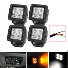 4pcs 3inch 24W Amber & White LED Work Light Spot Beam Fog Pods For JEEP ATV SUV