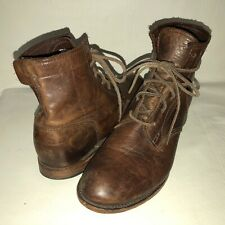 Vintage Shoe Company Men's 10M Brown Leather Lace Up Chukka Boots USA