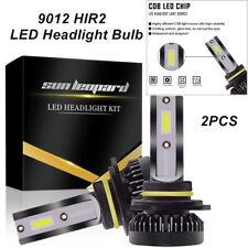 2x 9012 HIR2 Auto LED Headlight Bulbs High/Low Beam Kit COB REE Flip Chip 6000K