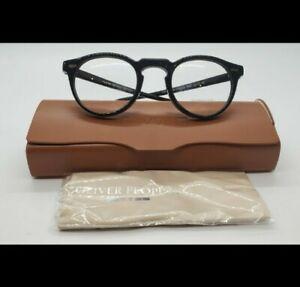 Oliver peoples eyeglasses Gregory Peck OV5186 1005 Black Round Frame NWOT.