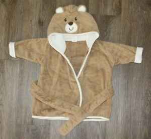 Luvable Friends 100% Cotton Hooded Baby Towel Bath Wrap ~ Bear